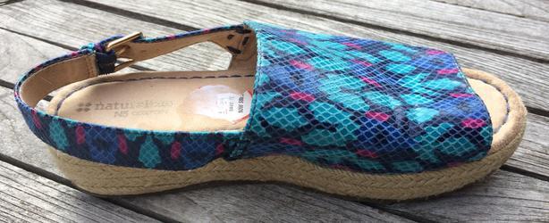 Women's Naturalizer Praline sling-back, espadrille platform sandals Size 7.5