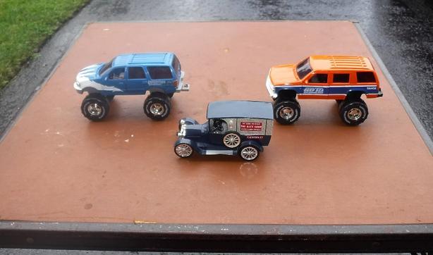 3 Die Cast Cars