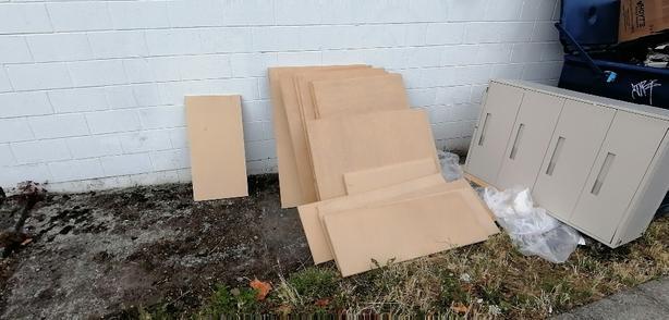 FREE: metal filing cabinet and shelving sheet