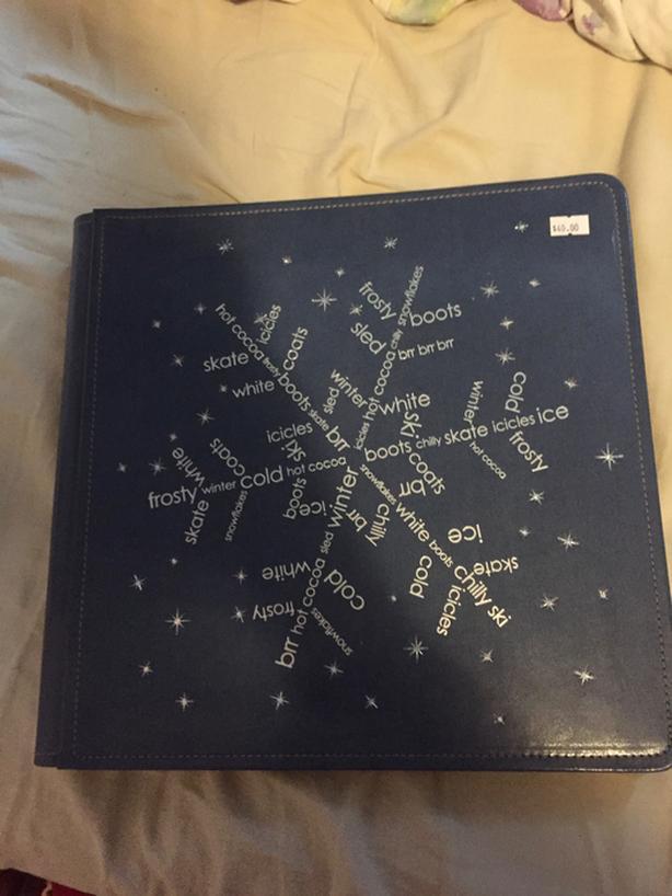 CREATIVE MEMORIES 12X12 BLUE SNOWFLAKE PICFOLIO MAX ALBUM