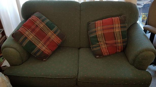 Free Loveseat & Pillows
