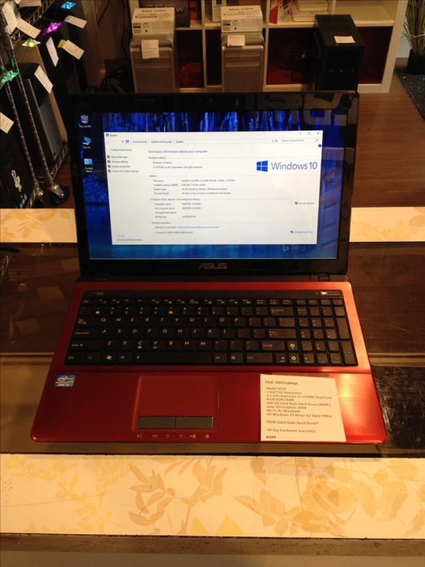 "15.6"" ASUS Laptop 2.1GHz Intel Core i3 8GB RAM 480GB SSD w/ Warranty!"