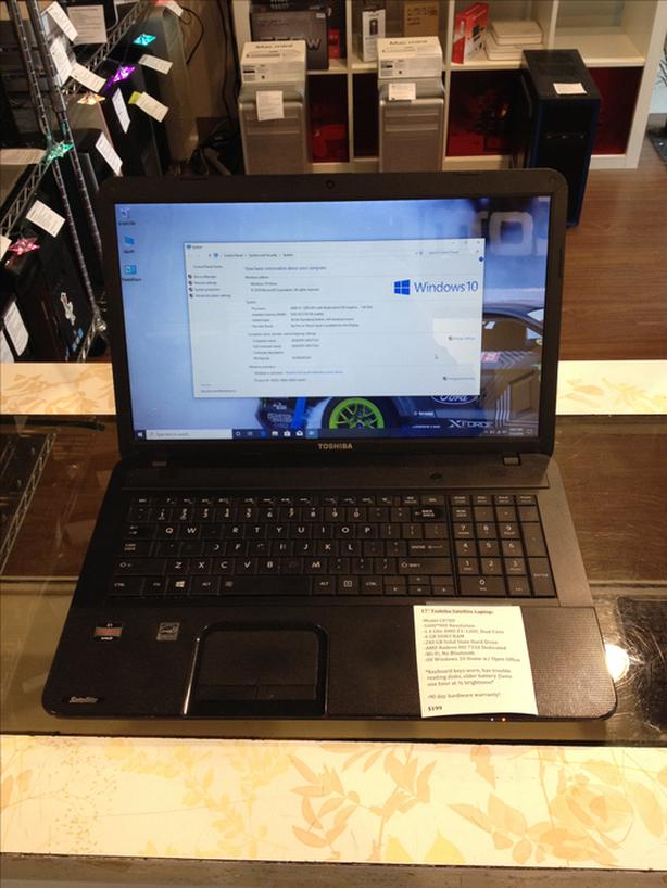 "17"" Toshiba Satellite Laptop 1.4GHz 4GB RAM 240GB SSD w/ Warranty!"