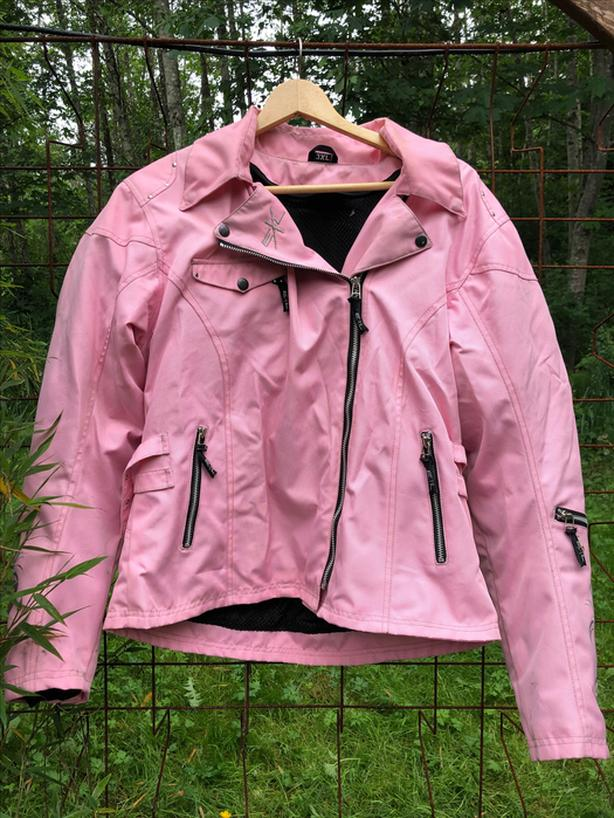 Women's pink (vegan) Motorcycle Jacket