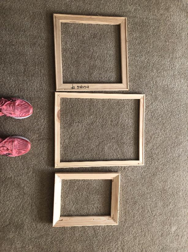 FREE: three stretcher bars for canvas