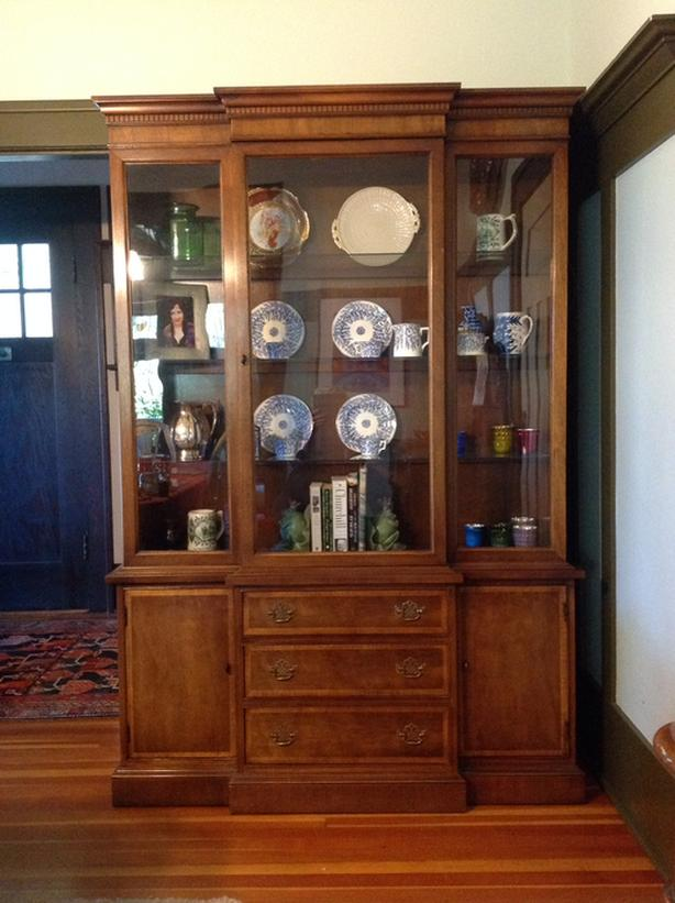 Mid  Century Inlaid Cabinet.USA made 1965 One Owner