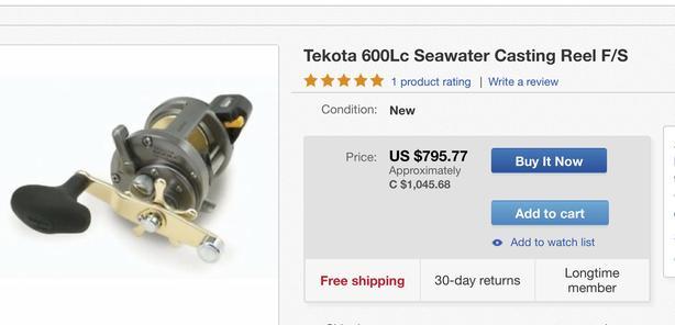 Shimao Tekota 600LC w//Line Counter