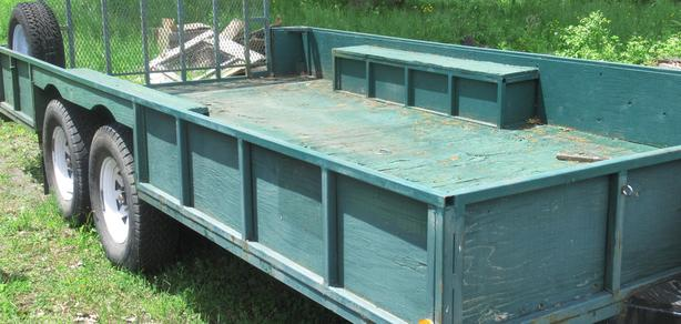 heavy duty tandem 15 x 8 trailer with ramp,brakes,lights
