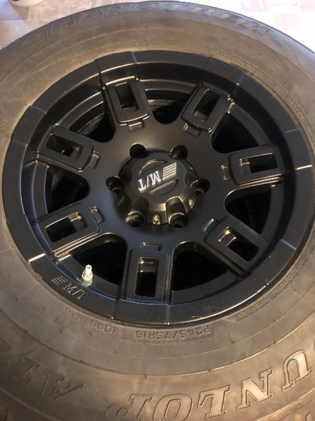 "16"" mickey thompson wheels on 90% dunlop tires 245-75r16"
