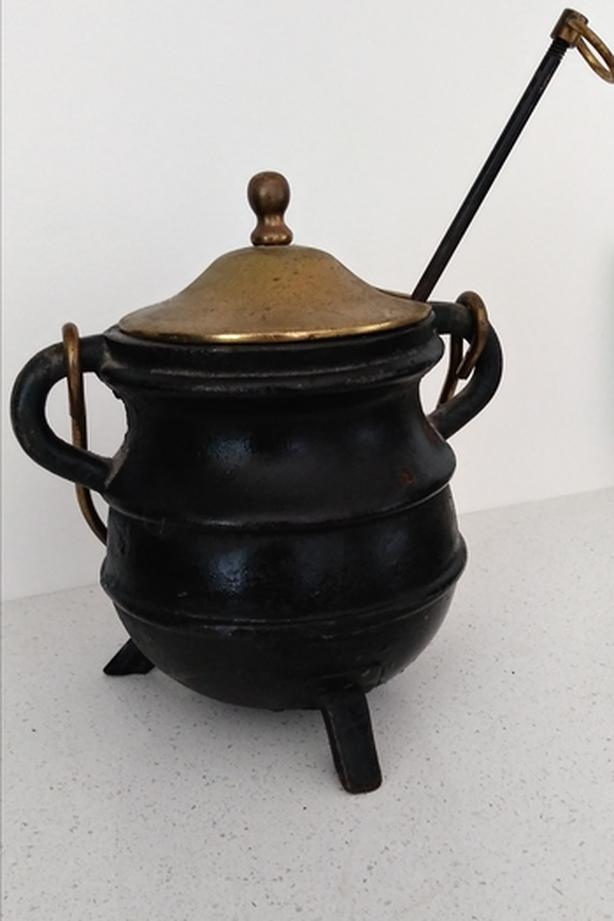 Cast Iron Fire Starter Cauldron - Antique