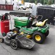 2000 John Deere LT166 Mower 22 inch 6.5 HP quantum, Air Compressor and Pressure