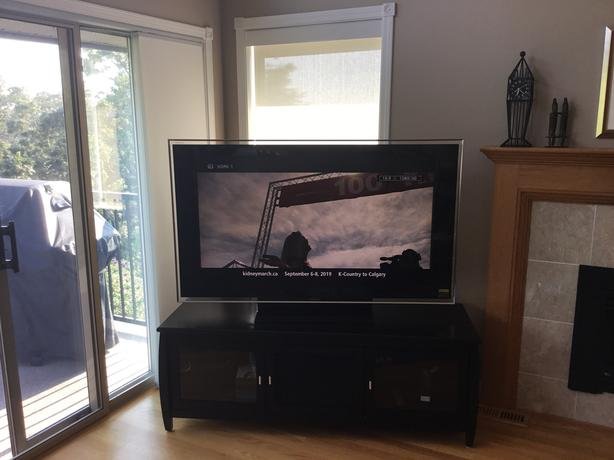 "52""Sony with stand/cabinet, price reduced"