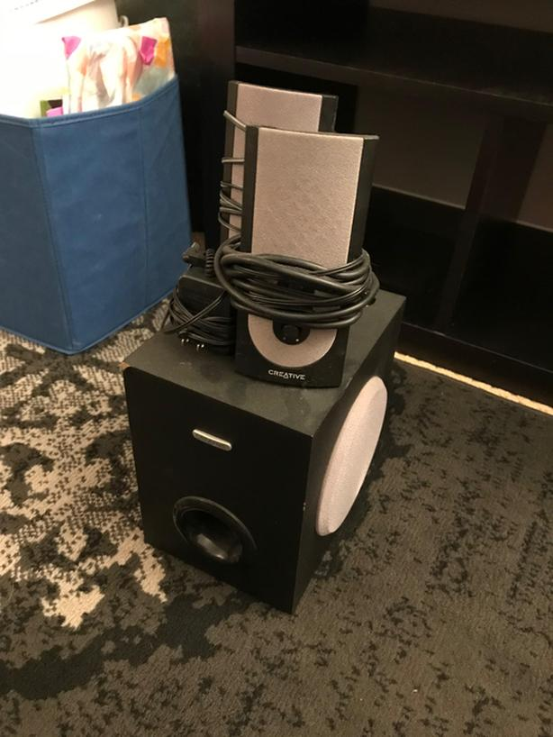 Creative brand computer speakers with subwoofer