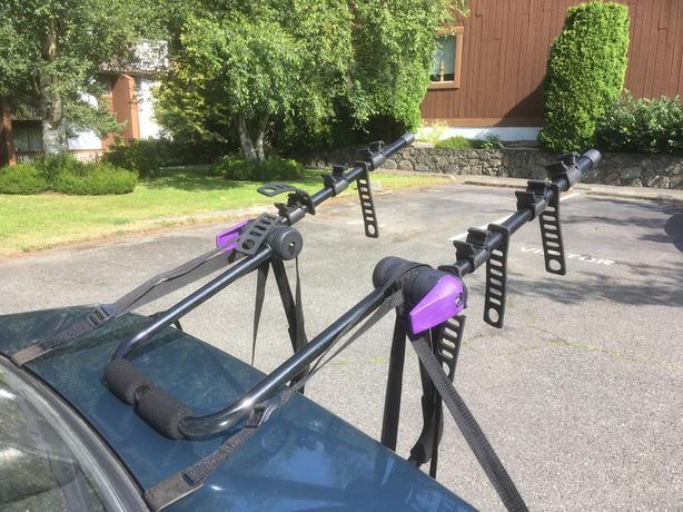 Sportrack trunk mount bike rack