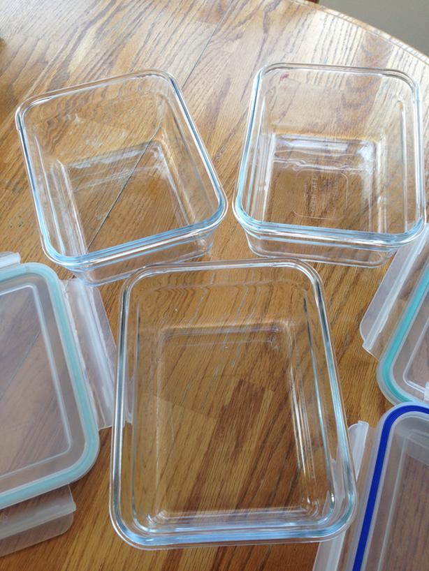 Glasslock Food Storage 3 pieces set - excellent conditions