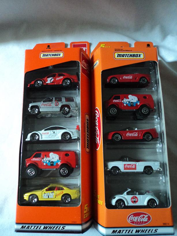 1/64 MATCHBOX COCA COLA 5 PACK CAR LOT