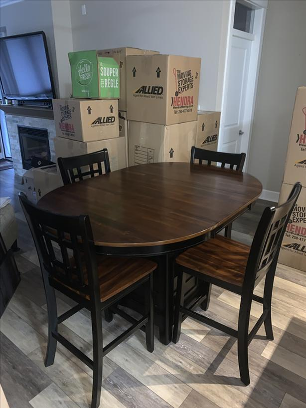 Bistro Pub Style Table & Four Chairs $225 OBO