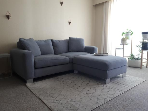 Admirable Urban Barn Light Grey Couch With Ottoman Victoria City Victoria Ibusinesslaw Wood Chair Design Ideas Ibusinesslaworg