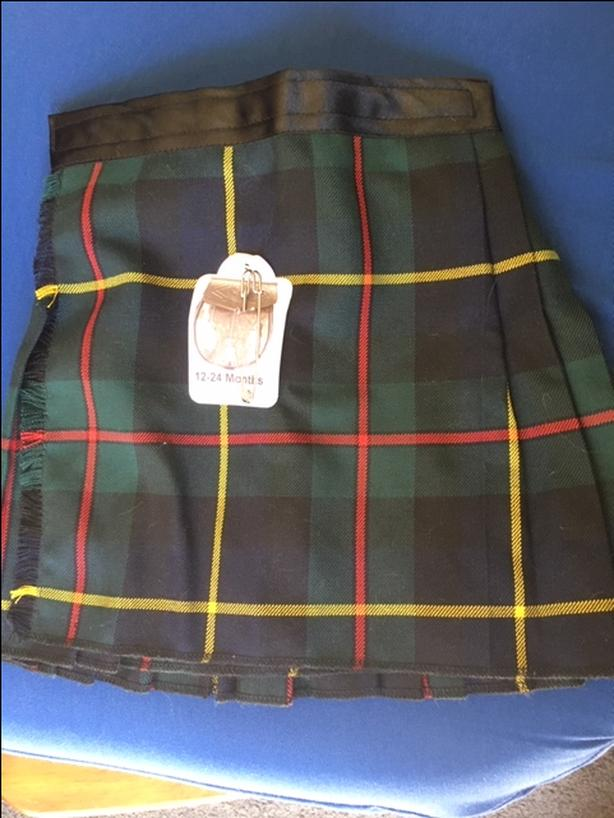 Kilt for a toddler  New, unworn