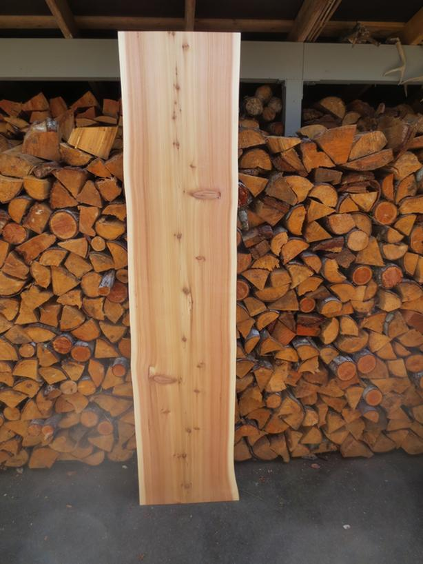 Thin cedar slab