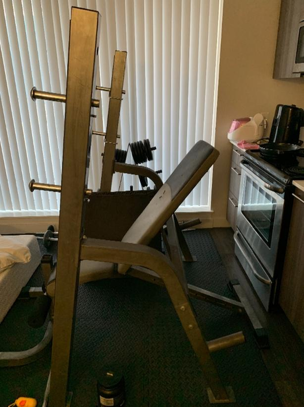 Cool Log In Needed 200 Workout Set Home Gym Set Squat Rack Inzonedesignstudio Interior Chair Design Inzonedesignstudiocom