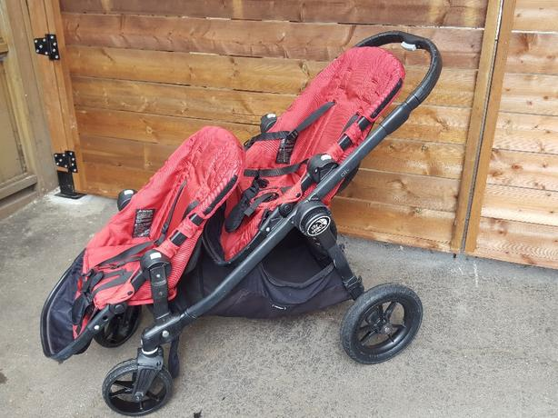 City Select Double Stroller Red Obo Saanich Victoria