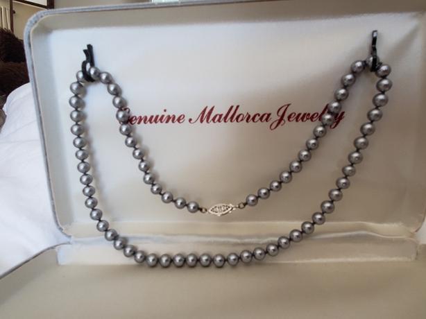 Genuine Mallorca Black Pearl Necklace