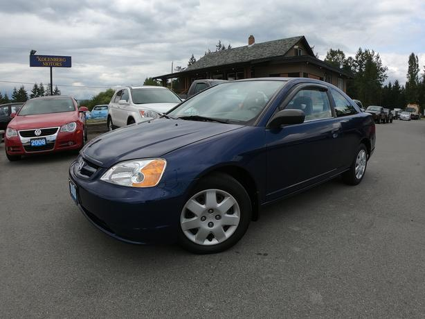2002 HONDA CIVIC COUPE (Automatic, A/C, Very Clean!)