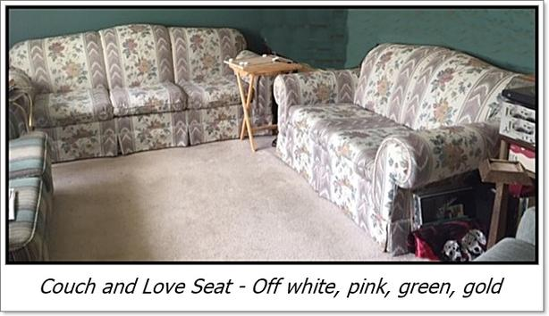 Flower Couch and Love Seat