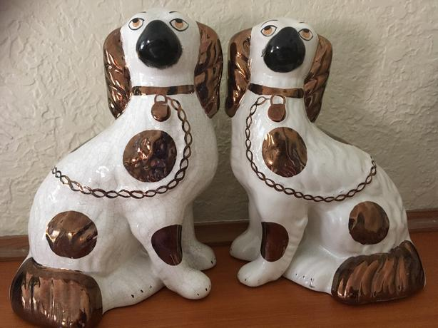 1850's Authentic Staffordshire dogs