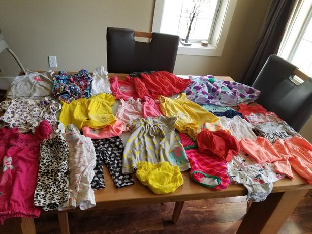 3 to 6 month girls summer lot