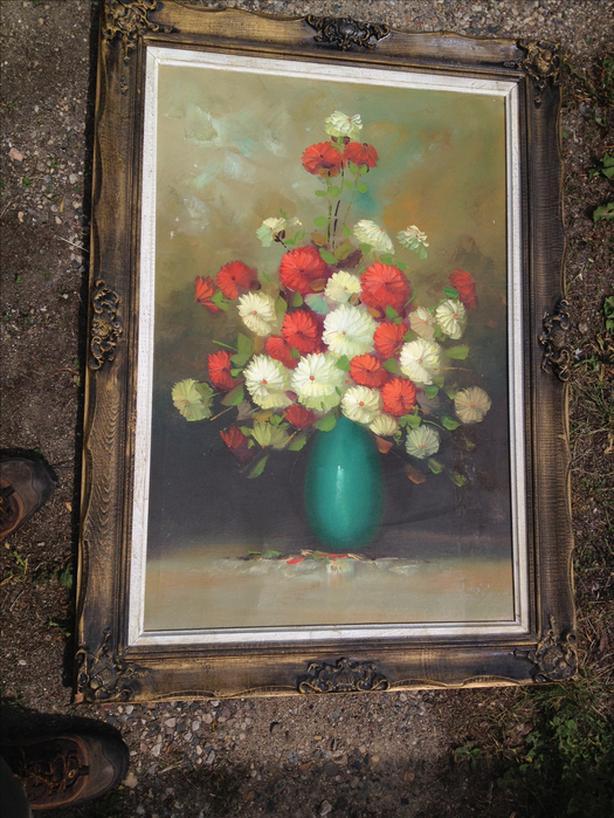 Antique Canvas Oil Painting