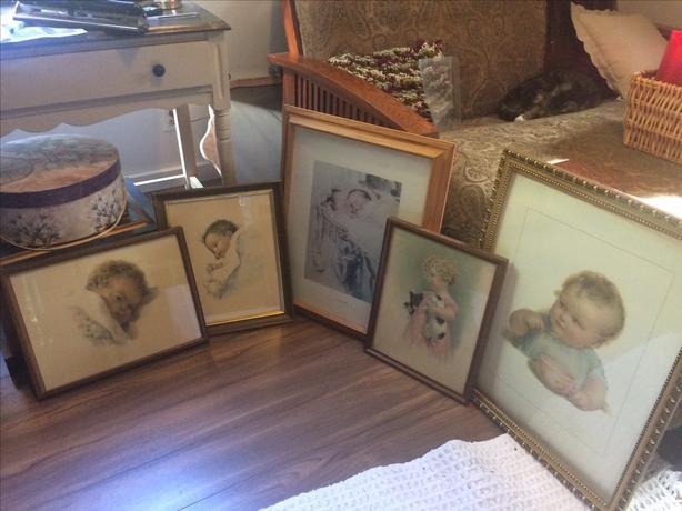 Bessie Pease Gutmann prints in frames