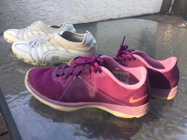 Women's size 7 Nike & Sketchers shoes
