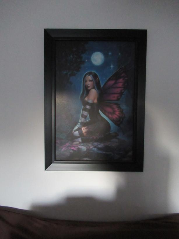 """4 month old fairy picture 30"""" x 42""""- large black frame"""