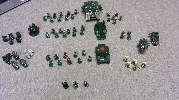 Large Warhammer 40k Dark Angels Army