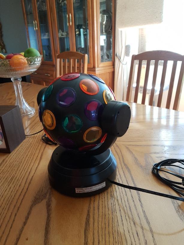 Vintage Strobe Light and multi coloured light ball ($20 00