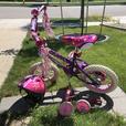 Kids Bike w/ Helmet and training wheels