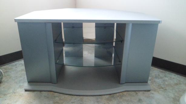 Grey T.V. Stand