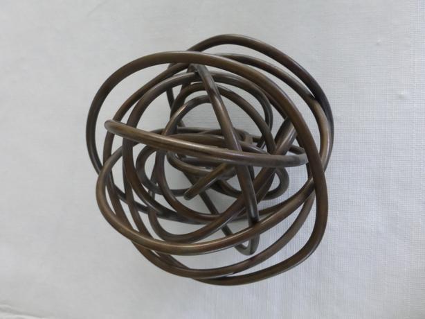 """Martha Sturdy Brass Wire Sphere Sculpture 5"""""""