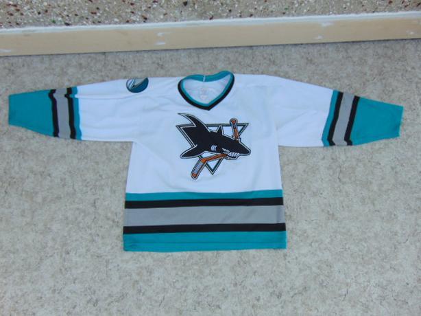 timeless design 1fc58 10dba  Log In needed $35 · Hockey Jersey Men's Size Medium CCM San Jose Sharks  White Teal Black