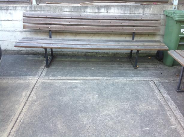 Fabulous Log In Needed 75 Cedar Outdoor Bench Contoured Back And Seat 8 Feet Long Customarchery Wood Chair Design Ideas Customarcherynet