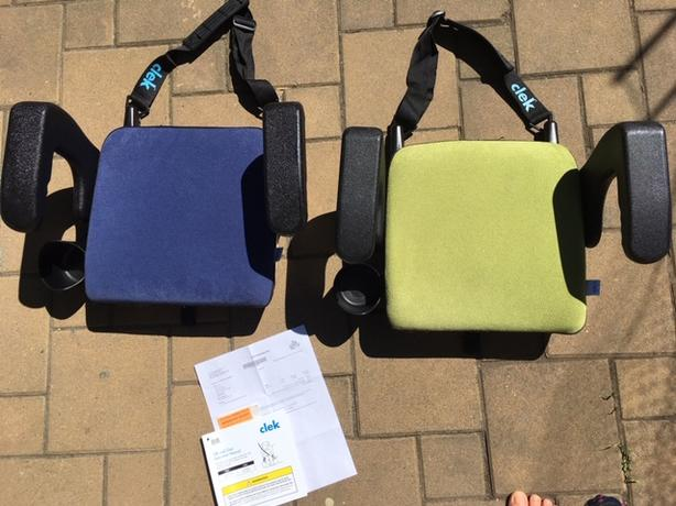Green Clek Olli Booster Seat $50 - like new