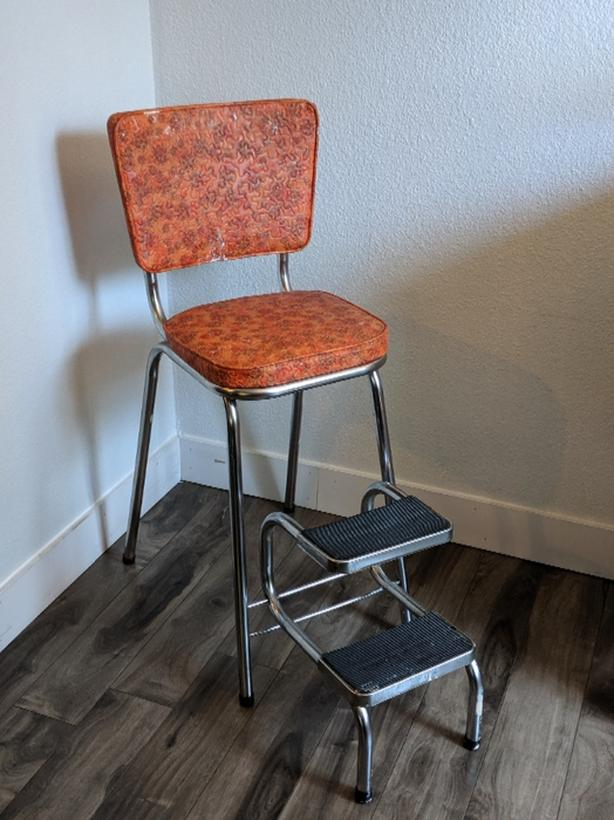 Excellent Log In Needed 80 Vintage Step Stool Chair Inzonedesignstudio Interior Chair Design Inzonedesignstudiocom