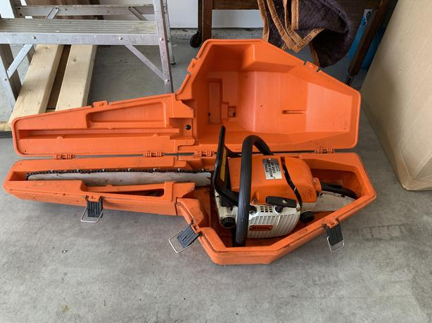 Log In Needed 350 Stihl 028 Wood Boss Chainsaw Chain Saw With Hard Case Serviced
