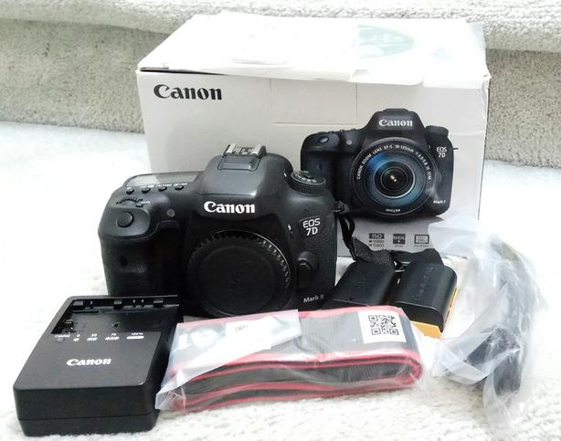 Canon 7D Mk II DSLR body with box