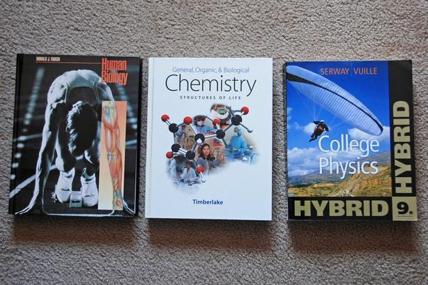  Log In needed $15 · Text books: College Physics, Human Biology, Chemistry