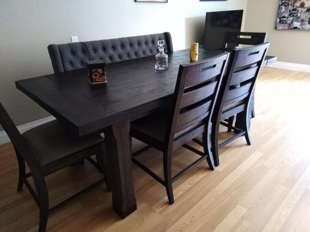 Outstanding Log In Needed 800 Calistoga Dining Table 4 Chairs Bench Machost Co Dining Chair Design Ideas Machostcouk