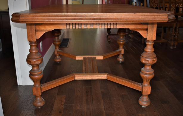 Antique Oak Dining table and matching buffet - offers welcome