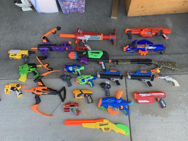 Nerf Guns and Kids Play Guns.